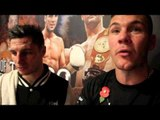 TOMMY COYLE STOPS JOHN SIMPSON IN ROUND SEVEN - POST FIGHT INTERVIEW WITH COYLE & JAMIE MOORE