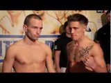 ZAK COLLINS v LASZLO FAZEKAS - OFFICIAL WEIGH IN (HULL) - FIGHTING PRIDE