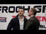 CARL FROCH v GEORGE GROVES 2 - THE REMATCH - HEAD TO HEAD @ FIRST PRESS CONFERENCE