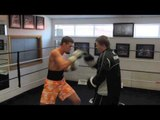 RICKY HATTON & SONNY UPTON TRAINING FOOTAGE - PADS - @ HATTON HEALTH & FITNESS GYM (HYDE)