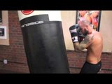 KEVIN MITCHELL EXPLOSIVE HEAVYBAG SESSION @ MATCHROOM ELITE BOXING GYM (FOOTAGE)