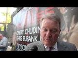 FRANK WARREN ON CHRIS EUBANK JR v DMITRY CHUDINOV / & TALKS CHRIS EUBANK SNR. - INTERVIEW FOR IFL TV