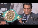 THE WINNER OF MAYWEATHER & PACQUIAO TO BE PRESENTED WITH ONE-OFF WBC (3000) EMERALD BELT
