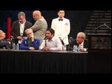 MANNY PACQUIAO REVEALS HIS SHOULDER INJURY FOR MAYWEATHER FIGHT @ POST FIGHT PRESS CONFERENCE