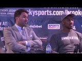 ANTHONY JOSHUA & EDDIE HEARN - SEPTEMBER 12th WERE LOOKING AT DILLION WHYTE, DAVID PRICE or CHISORA