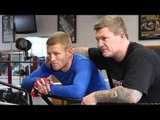 TERRY FLANAGAN & RICKY HATTON POSE FOR THE MEDIA @ RICKY HATTON'S GYM