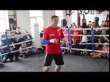 TOMMY COYLE SHADOW BOXING FOOTAGE AHEAD OF THE RUMBLE ON THE HUMBER