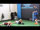 CHARLIE EDWARDS & SONNY EDWARDS GROUND WORKOUT WITH CAMERON GOFF @ GO FIT GO BOX GYM