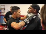 'SON OF A GREAT'- CONNOR BENN SMASHES THE PADS WITH JIMMY TIBBS & NIGEL BENN SHOUTS INSTRUCTIONS