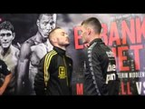 LEIGH WOOD v JOSH WALE - HEAD TO HEAD @ FINAL PRESS CONFERENCE IN SHEFFIELD