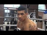 CONOR NIGEL BENN & TONY SIMS WORK THE PADS @ THE MATCHROOM BOXING GYM (FOOTAGE)