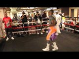 GUILLERMO RIGONDEAUX SHOWS OFF HIS SKIPPING SKILLS & SPEAKS TO THE PUBLIC