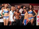 GUILLERMO RIGONDEAUX v DRIAN FRANCISCO OFFICIAL WEIGH & HEAD TO HEAD / COTTO v CANELO