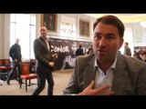 EDDIE HEARN ON CONOR BENN, NIGEL BENN COMMENTS ON CALLUM SMITH & HONEST ON DeGALE/SELBY RELATIONSHIP
