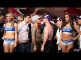 MIGUEL COTTO v SAUL CANELO ALVAREZ - (FULL) - OFFICIAL WEIGH IN & FACE OFF VIDEO / COTTO v CANELO