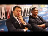 ANTHONY JOSHUA v DILLIAN WHYTE - FULL POST FIGHT PRESS CONFERENCE (W/ EDDIE HEARN) / BAD INTENTIONS