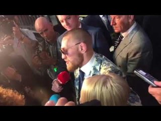 CONOR McGREGOR TALKS ABOUT FIGHTING NATE DIAZ AGAIN - AFTER DEFEAT TO FLOYD MAYWEATHER