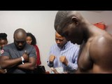 (UNSEEN) JOSHUA BUATSI RARE DRESSING ROOM FOOTAGE OF THE TEAMS PRE FIGHT BLESSING