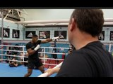 INSIDE CAMP! -ANTHONY JOSHUA TAKES PRECISE INSTRUCTIONS FROM TRAINER ROB McCRACKEN (EXCLUSIVE)