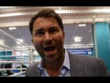 EDDIE HEARN ON PULEV PULLOUT, JOSHUA-TAKAM, WHYTE,  GROVES-EUBANK, SCHAEFER BEEF, DIGS AT DiBELLA!
