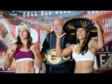 NICE HATS LADIES! - CHANTELLE CAMERON v EDITH RAMOS - OFFICIAL WEIGH-IN VIDEO / CAMERON v RAMOS