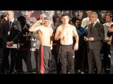 CLETUS SELDIN v ROBERTO ORTIZ - OFFICIAL WEIGH IN & HEAD TO HEAD / JACOBS v ARIAS