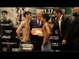 AND THE NEW!! JERWIN ANCAJAS vJAMIE CONLAN - OFFICIAL WEIGH IN & HEAD TO HEAD FROM BELFAST