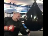 TYSON FURY & BILLY JOE SAUNDERS SMASHING THE WATER-BAG - GYPSY KINGS TRAINING IN MARBELLA!
