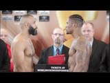 MIKAEL LAWAL v ISTVA ORSOS - OFFICIAL WEIGH IN & HEAD TO HEAD / GROVES v EUBANK JR