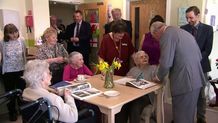 Prince Charles' visit to care home makes residents smile