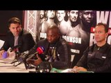 DILLIAN WHYTE v LUCAS BROWNE (FULL) POST FIGHT PRSS CONFERENCE W/ EDDIE HEARN & MARK TIBBS