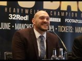 'THERE'S THE DOOR!' - TYSON FURY SHUTS DOWN REPORTER WHEN ASKED 'NEGATIVE' QUESTION ABOUT DRUG BAN