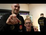 TYSON FURY REACTS TO HIS COMEBACK 4TH ROUND TKO WIN AGAINST SEFER SEFERI IN MANCHESTER