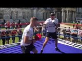 INTRODUCING SUPER-MIDDLEWEIGHT SOUTHPAW - TAYLOR McGOLDRICK - SHOW CASES HIS PAD SKILLS!