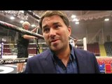 EDDIE HEARN REACTS TO CORDINA BEATING DODD, JONAS SHOCK LOSS, TYSON FURY, KHAN v BROOK, WHYTE, ALLEN