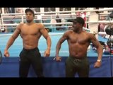 MONSTER! - ANTHONY JOSHUA REVEALS HIS RIPPED SHAPE ALONGSIDE STEVO THE MAD MAN! / JOSHUA v POVETKIN