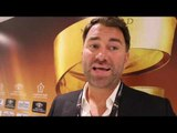 EDDIE HEARN (IN SAUDI ARABIA) ON BILLY JOE SAUNDERS SITUATION, GROVES v SMITH, CHISORA-WHYTE / KHAN