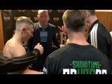 HEATED! SUNNY EDWARDS & RYAN FARRAG CLASH AT WEIGH IN - AS BROTHER CHARLIE EDWARDS GETS INVOLVED!