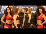 WAR TAYLOR! - KATIE TAYLOR v CINDY SERRANO - OFFICIAL WEIGH-IN FROM BOSTON   TAYLOR-SERRANO