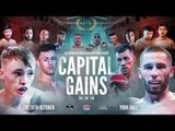 MTK GLOBAL PRESENTS MTK LONDON'S *CAPITAL GAINS* UNDERCARD FROM YORK HALL, LONDON
