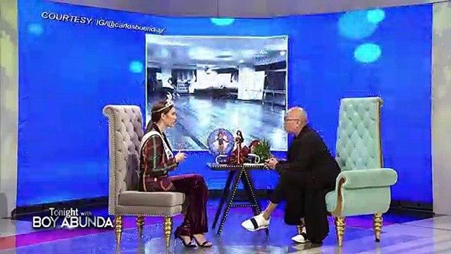 "TWBA: Catriona reacts to Kapamilya stars' versions of ""Lava Walk"""