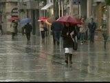 Primer temporal de lluvias del otoño tras un fin de semana gélido