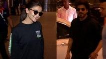 Shahrukh Khan and Alia Bhatt spotted at Mumbai Airport