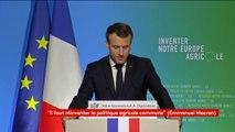 """""""Les agriculteurs doivent devenir les premiers militants de la transition écologique"""",  déclare Emmanuel Macron"""