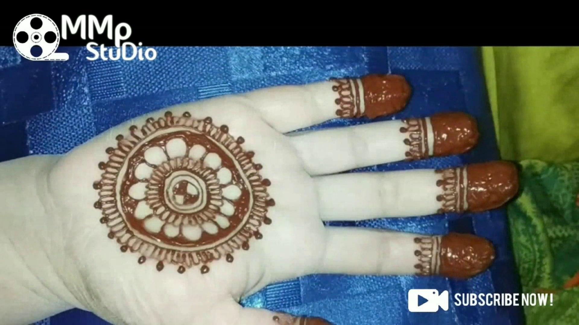 Beautiful Gol Tikki Mehndi Design For Front Hand Latest Floral Arabic Henna Design By Mmp
