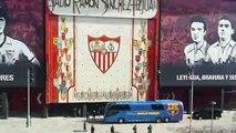 Sevilla-Barcelona: Llegadas del Sevilla y del Barcelona al Ramón Sánchez Pizjuán