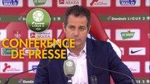 Conférence de presse Stade Brestois 29 - Grenoble Foot 38 (3-1) : Jean-Marc FURLAN (BREST) - Philippe  HINSCHBERGER (GF38) - 2018/2019