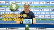 Conférence de presse Clermont Foot - FC Lorient (0-1) : Pascal GASTIEN (CF63) - Mickaël LANDREAU (FCL) - 2018/2019