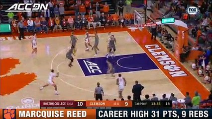 Clemson's Marcquise Reed Comes Up Big vs. Boston College