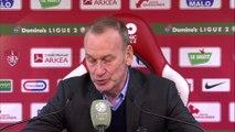 Réaction de Jean-Marc Furlan et Philippe Hinschberger après Stade Brestois 29 - Grenoble Foot 38